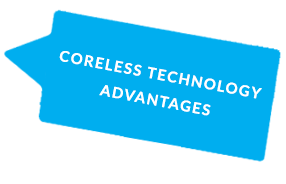 CORELESS TECHNOLOGY ADVANTAGES